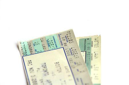 atender: Par de boletos  Foto de archivo