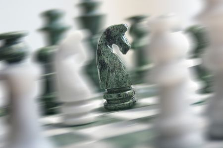 Chess action Stock Photo