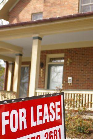 Huis te koop met Stockfoto