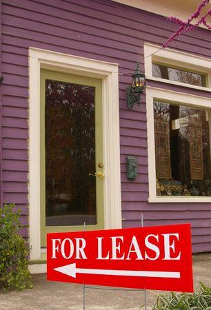 Bouwen met voor de lease-teken Stockfoto