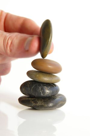Rocks balancing photo