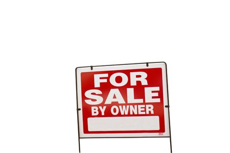 Isolated For Sale sign photo