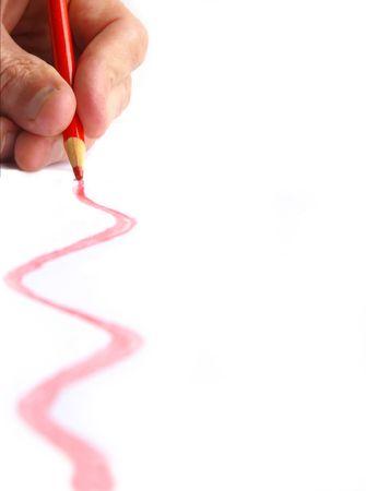 Hand drawn line