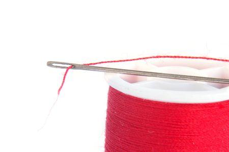 craftmanship: Needle and thread closeup