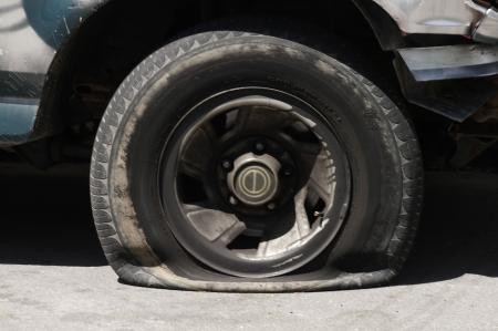 Flat tire Stock Photo - 387930