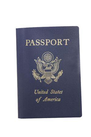 Isolated passport Stock Photo