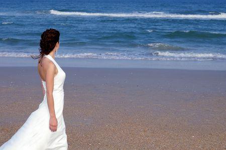 nuptial: Woman on a beach