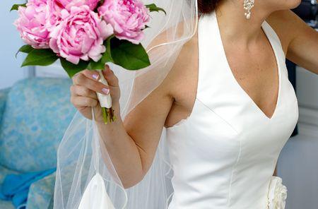 Wedding dress and veil Stock Photo - 427290