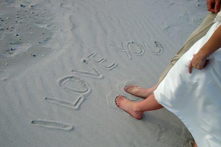 nuptial: Couple on the beach