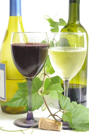 red and white wine Stock Photo - 432430