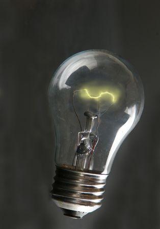 Light-bulb with lit filament