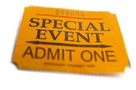 to attend: ticket stub