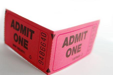ticket stubs: ticket stubs folded