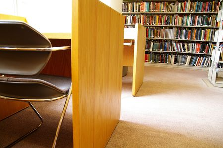 Library books and chair Stock Photo - 515421