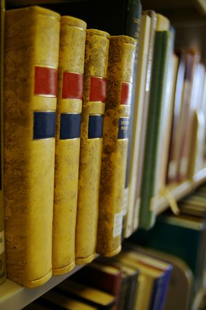 Library books in a row Stock Photo - 515419