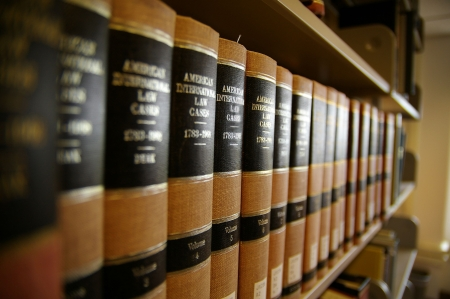 legal court: Law books Stock Photo