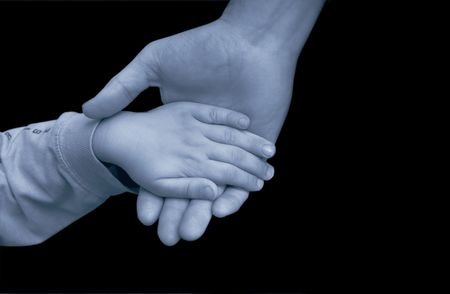 Father and son holding hands Stock Photo - 652045