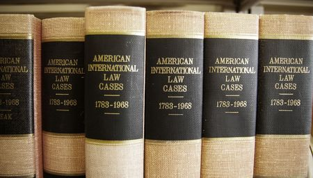 studious: Law books in a row