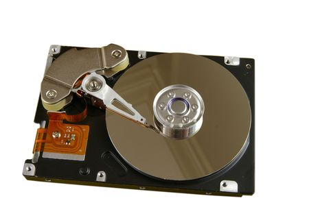 Hard disk-drive isolated with clipping path