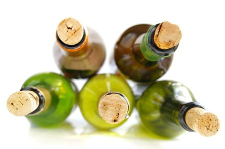 Wine bottles with corks Stock Photo - 651986