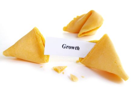 fortune cookie: Growth fortune cookie Stock Photo