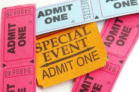 ticket stubs: ticket stubs Stock Photo