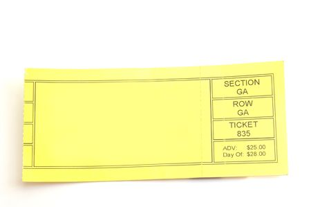 to attend: blank ticket stub