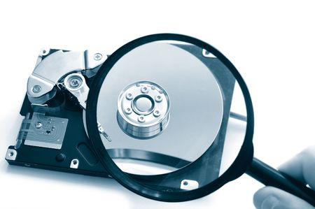 Hard disk-drive search Stock Photo - 651944