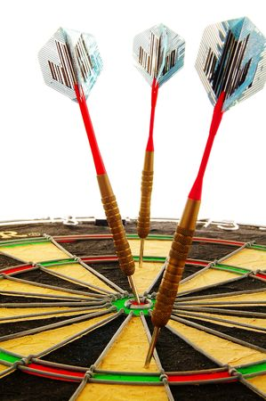 Three Darts, focus is on the one hitting a bulls-eye