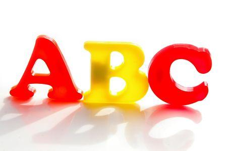 Children's colorful plastic letters