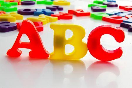 Children's colorful plastic letters 免版税图像 - 717355