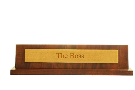 Isolated nameplate with
