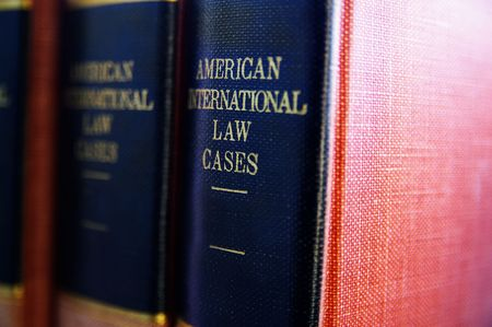 Closeup of books on American law Imagens