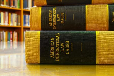 Stack of legal books in a library Stock Photo - 2138490