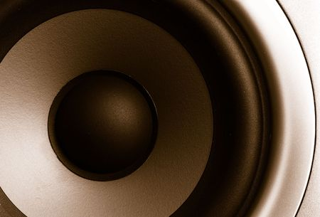 Closeup of a stereo speaker photo