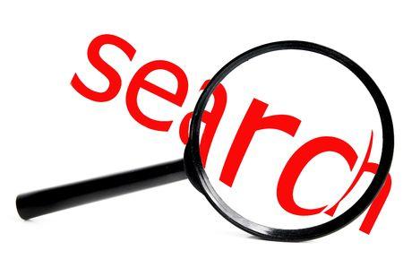 白の赤の検索テキストと虫眼鏡