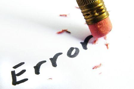 closeup of a pencil erasing an