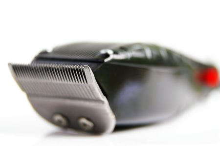 hygeine: closeup of hair clippers,  on white