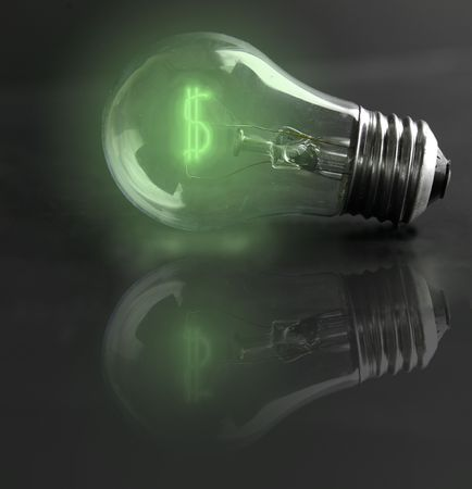 light-bulb money-sign (energy costs) Stock Photo - 3806590