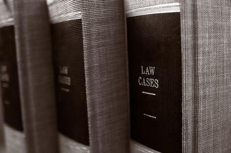 closeup of law books on shelf Stock Photo - 3890694