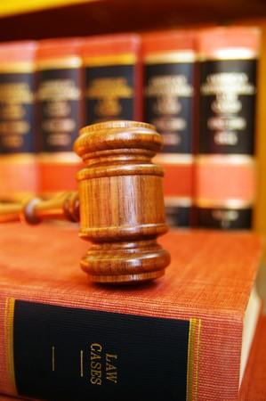 arbitrater: gavel on law books