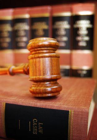 gavel on law books photo