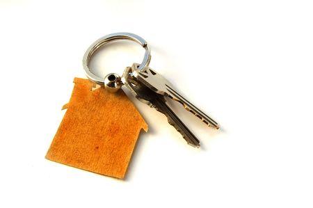 Toetsen op een huis sleutel-keten (New House sleutels)