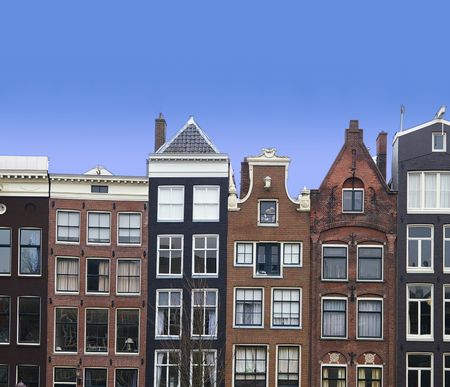 the netherlands: Canal houses in Amsterdam, The Netherlands