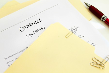 legal contract and file folders Stock Photo - 7833687