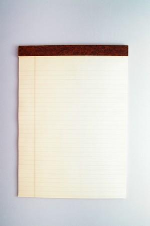legal pad: blank yellow legal pad