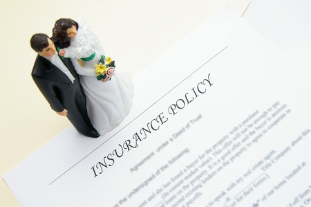 wedding couple and insurance plan Stock Photo - 8481668