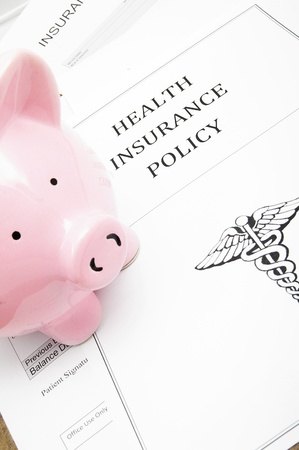 healthcare insurance and piggy bank Stock fotó