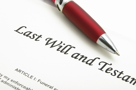autograph: closeup of a Last Will and testament document