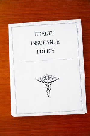 a health insurance policy, from above Stock fotó